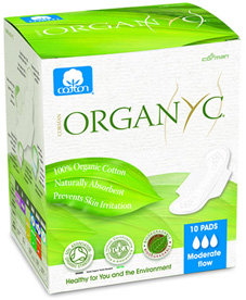 Organyc Organic Cotton Sanitary Pads Moderate Flow - 10