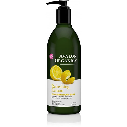 Avalon Organics Refreshing Lemon Glycerin Hand Soap - 355ml