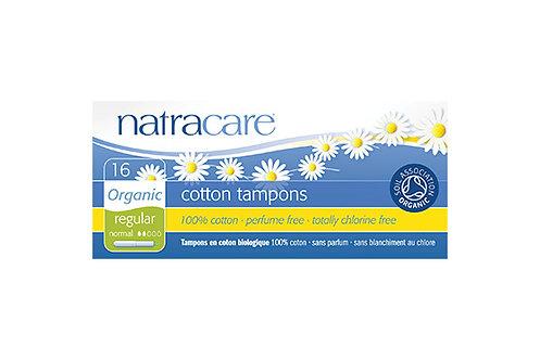 Natracare Regular Organic Cotton Tampons with Applicator - 16