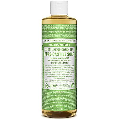 Dr Bronners Green Tea Pure Castile Liquid Soap - 473ml