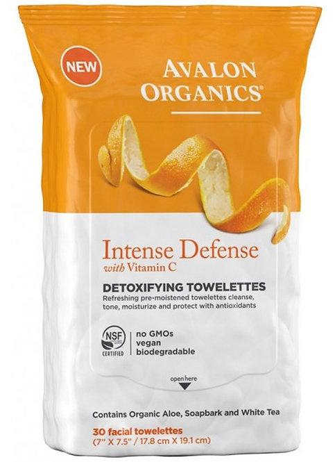 Avalon Organics Intense Defense Vitamin C Detoxifying Towelettes