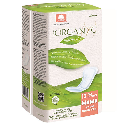 Organyc Organic Cotton First Day Maternity Pads - 12