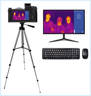 C400M volitelná sestava s kamerou, stativem, monitorem, klávesnicí a myší