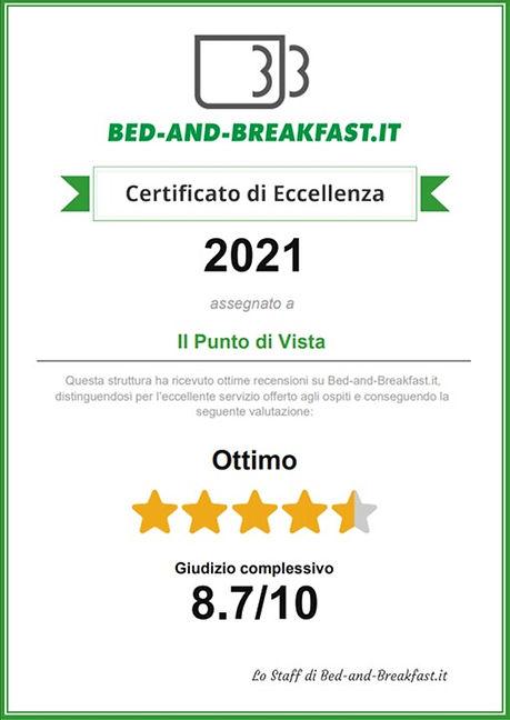 bed-and-breakfast certificato eccellenza