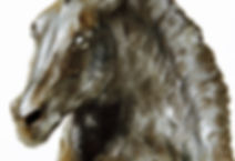 Poseidon sculpture de cheval de Sophie Mattei