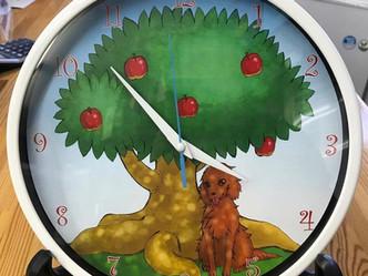 イラストを使って時計を作ってみました
