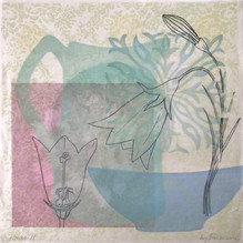Harebell, 30.5x30.5cm, litho and relief. $300