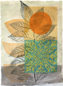 Orangerie (Choice), 39x28cm, relief on handmade washi. $300