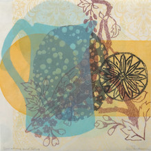 Sunshine and Song, 30.5x30.5cm, litho and relief on washi. $300.