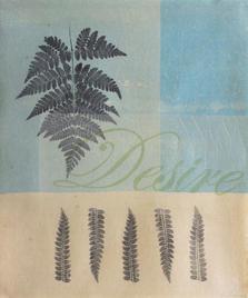 Desire, 42x34cm, litho and relief on Gampi wet mounted onto Mura Hoban handmade washi, acrylic, $300
