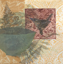 And I, like her, 30.5 x30.5cm, litho, drypoint, relief and hand colouring. $300.
