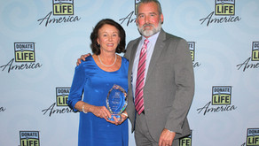 Judy Trew wins 2019 James S. Wolf, M.D. Courage Award at the Donate Life America Annual Conference