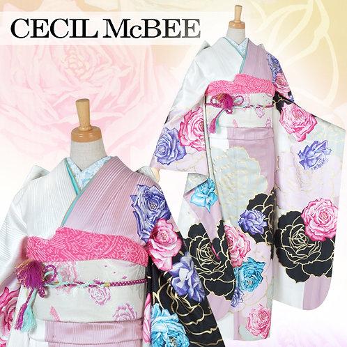 CECIL Mc BEE 白ローズ 薔薇振袖(R1520)