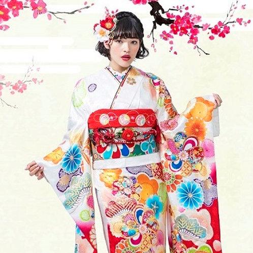 白×赤 松桜梅菊(R1812)