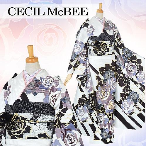 CECIL Mc BEE 白地 薔薇尽くし振袖(R1521)