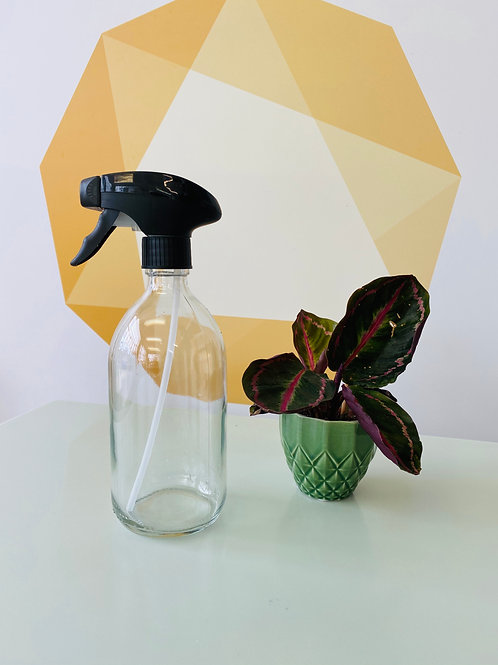 Clear Glass Spray Bottle - 500ml