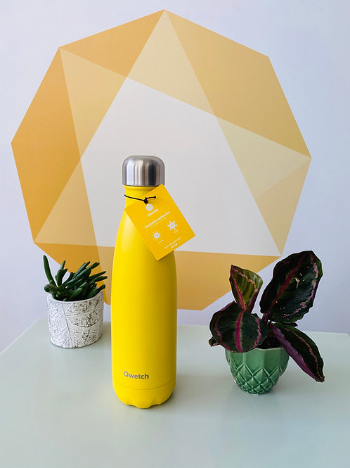 Insulated Stainless Steel Bottle - Yellow