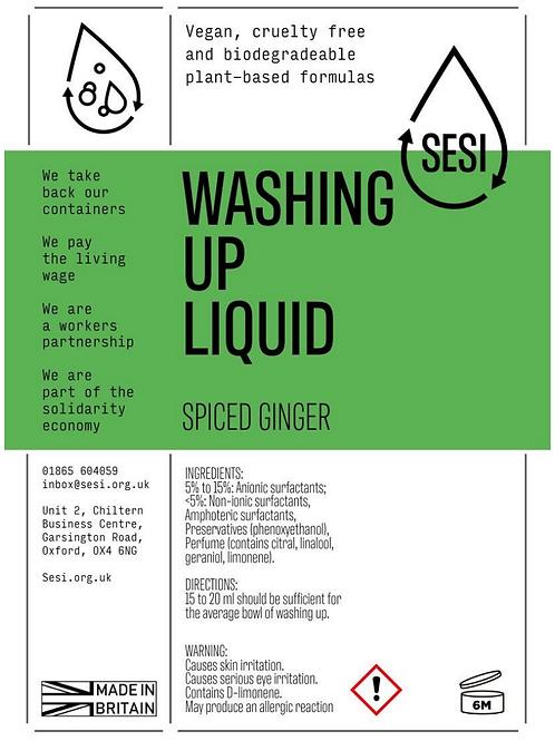 Washing Up Liquid - Spiced Ginger -  SESI £2.80 /litre