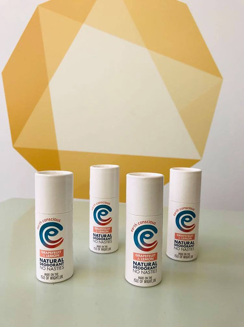 Earth Conscious Deodorant - Grapefruit & Lemon