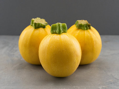 Yellow Round Courgette - £10.50/kg