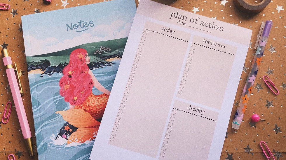 To do list and notebook bundle