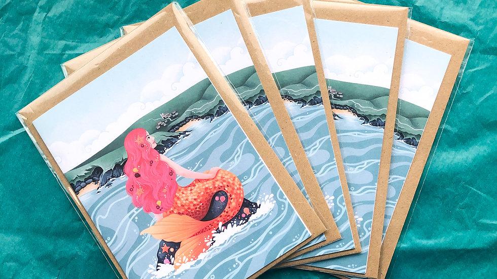 Mermaid of Zennor Greetings Card Pack of 5