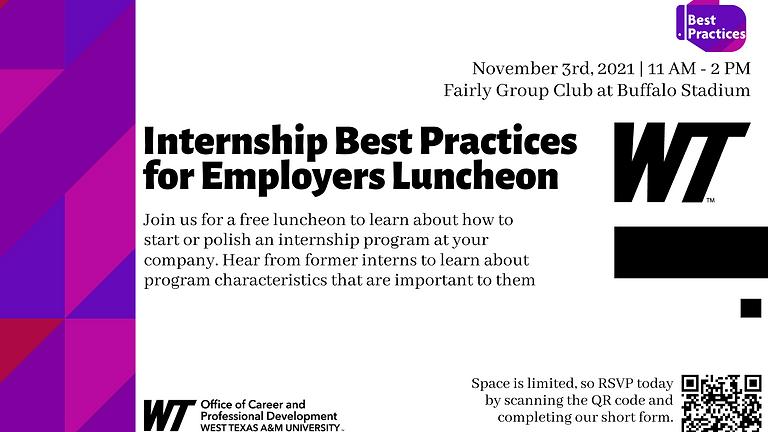 Internship Best Practices for Employers Luncheon