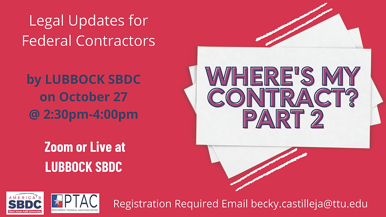 Where's My Contract? Legal Updates for Federal Contractors 2021