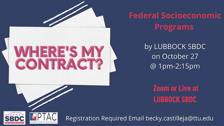 Where's My Contract? Federal Socioeconomic Programs