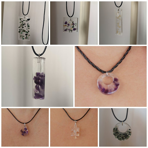 Crystal Necklaces - Hand made