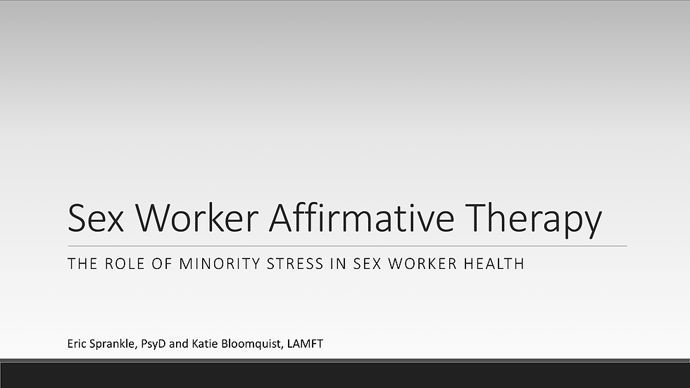 Sex Worker Affirmative Therapy (1 AASECT CE)