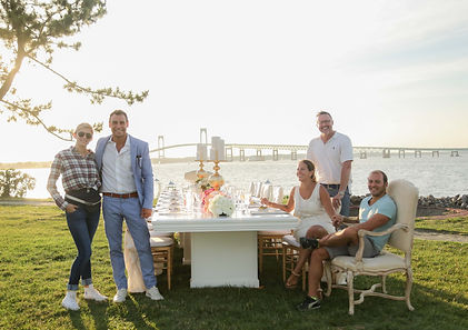 The Carbotti Experiences team at thei wedding photo shoot in Newport, RI.