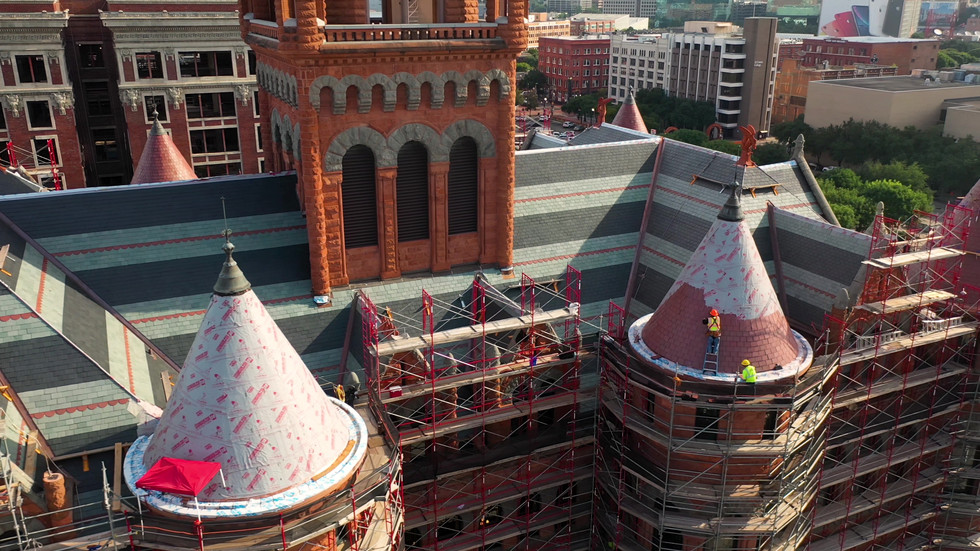 Old Red Museum in Dallas Roof Reconstruction