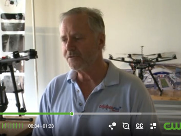 Drones Plus Dallas featured on CW33 after drone-swarm of Superbowl 51