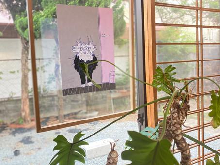 ネコ絵+フレーム