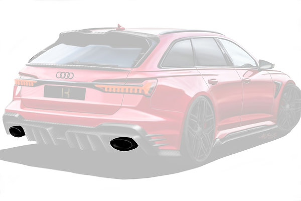 RS 6 KEYVANY EXHAUST SYSTEM WITH STRAIGHT PIPES +55HP