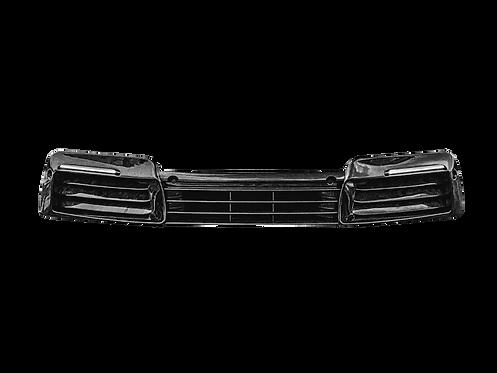 PORSCHE 992 GTR CARBON FIBRE FRONT BUMPER ADD ON MASK + GRID 8 PARTS SET