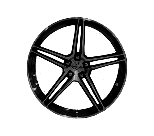"""F8 TRIBUTO FORGED ALLOY WHEELS 21"""" FRONT/22"""" BACK K6"""
