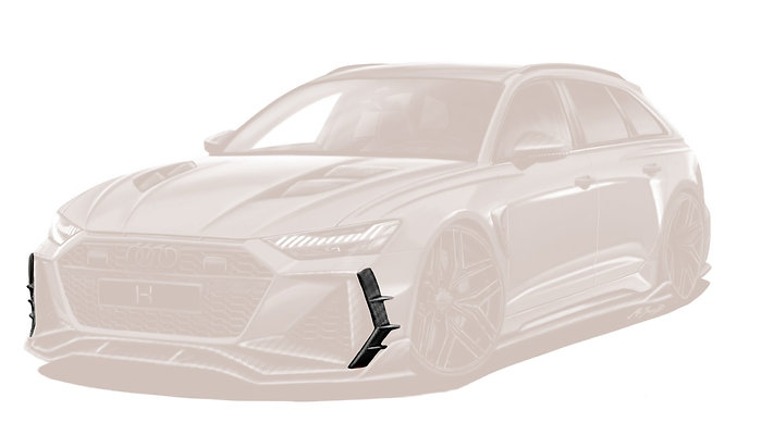 RS 6 CARBON FIBRE FRONT SIDE BUMPER ADD ON