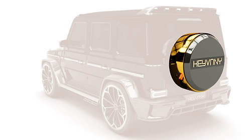 G WAGON CARBON FIBRE REAR SPARE WHEEL WITH ILUMINATED KEYVANY LOGO