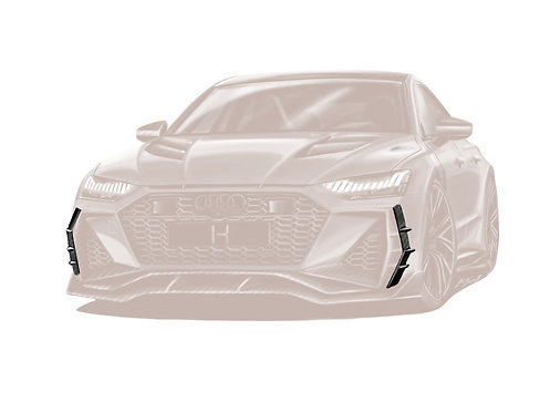 RS 7 CARBON FIBRE FRONT SIDE BUMPER ADD ON