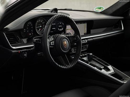 PORSCHE 992 GTR KEYVANY STEERING WHEEL CARBON FIBRE LEATHER PERFORMANCE