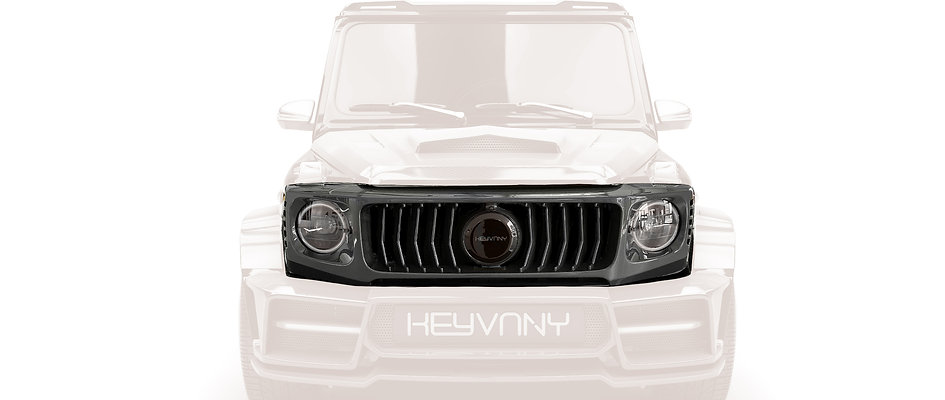 G WAGON CARBON FIBRE FRONT MASK WITH GRILLE