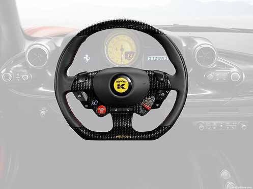 F8 TRIBUTO STEERING WHEEL CARBON FIBRE/LEATHER PREFORMANCE