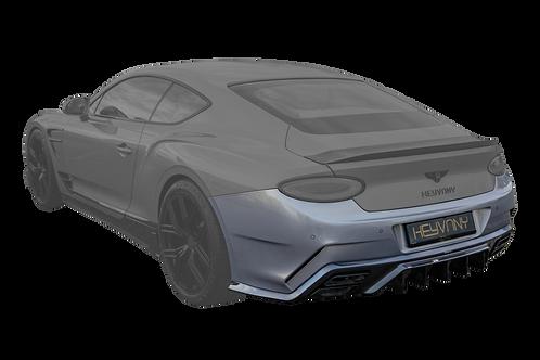 CONTINENTAL GT-GTC CARBON FIBRE REAR BUMPER WITH DIFFUSER