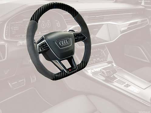 RS 6 KEYVANY STEERING WHEEL CARBON FIBRE/LEATHER PREFORMANCE