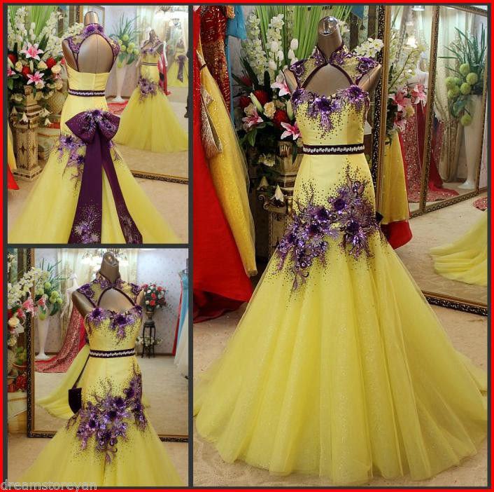 2c4c81542178 YZ Luxury Crystal Bright Diamond Wedding Dress IBM