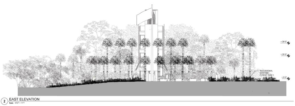 Landscape design for the Beirut Peacekeepers Memorial Tower in Port Charlotte, Florida