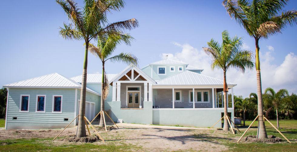 Landscape installation progress in Port Charlotte, Florida (March 2021)