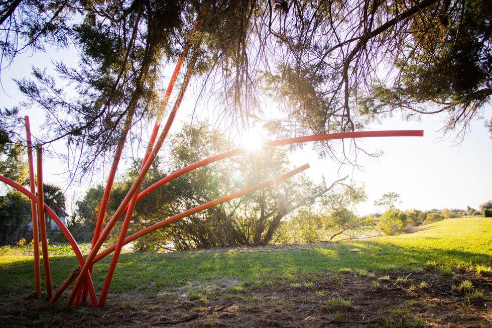 Art installation in Punta Gorda, Florida